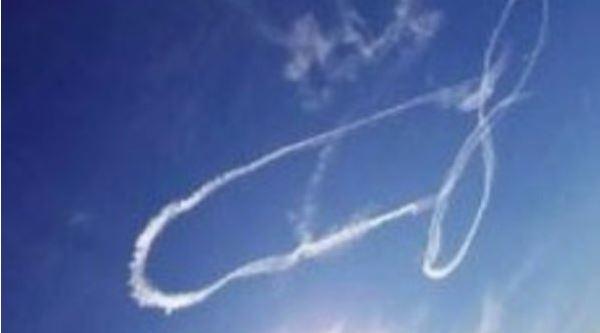 US-Piloten kriegen Ärger wegen Penis am Himmel